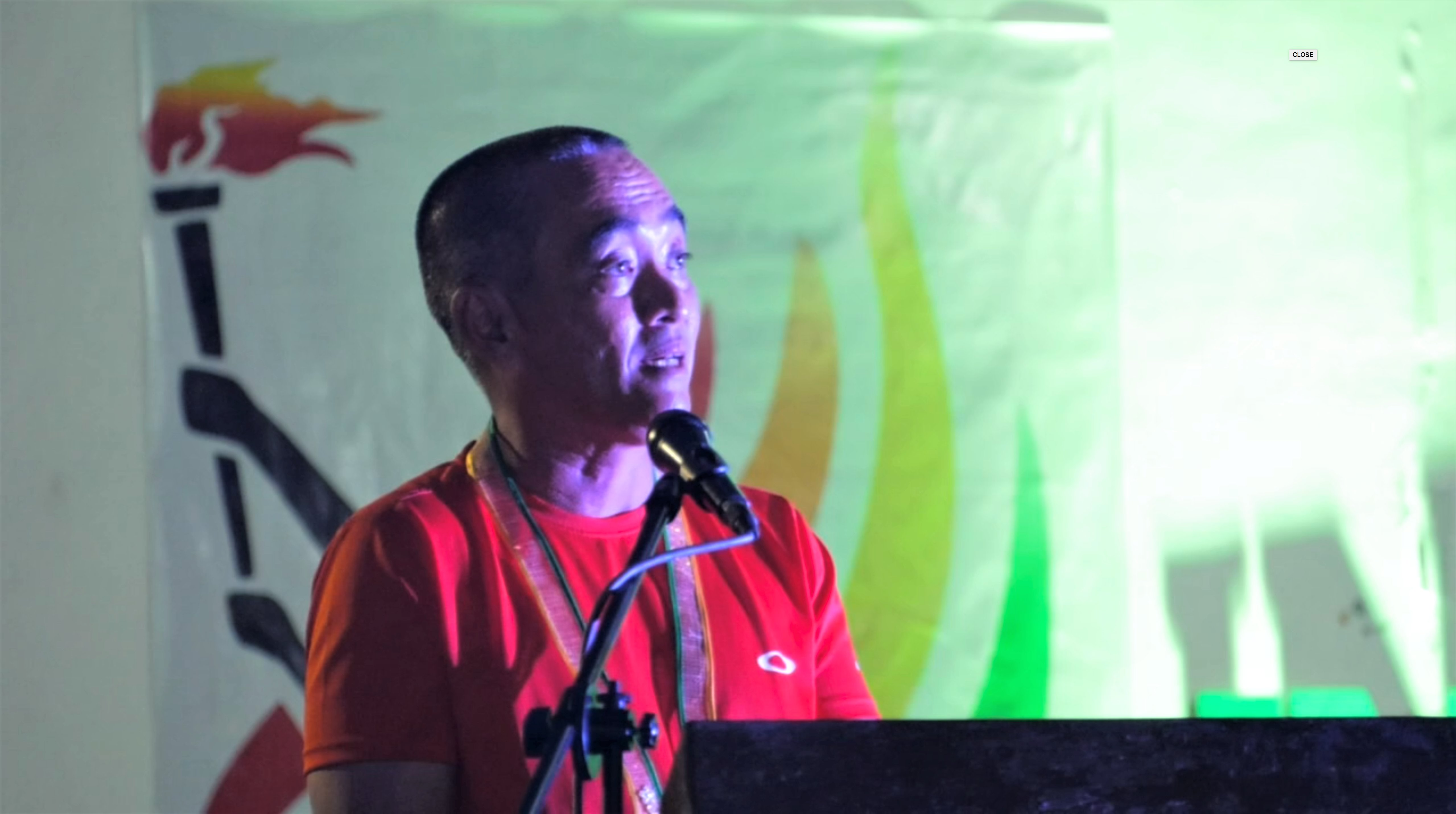 PARTNERS. Mr. Rowil Batan during his speech in the opening of this year's Intramural games. Photo by VSU Web Team