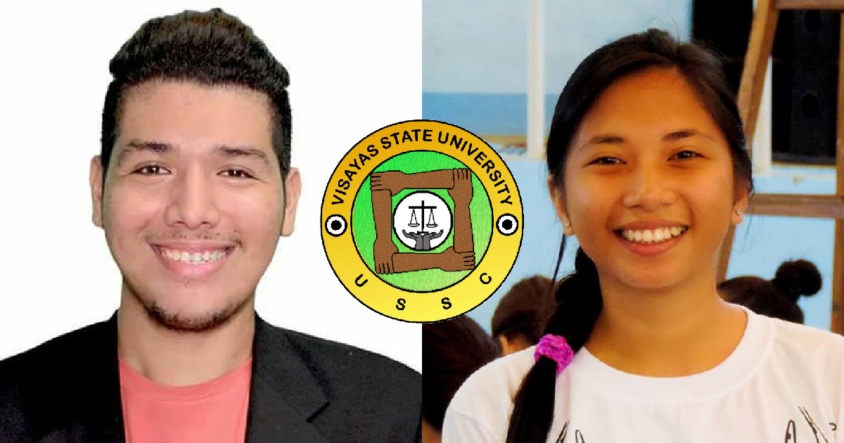 NEXT STUDENT REGENT. CAFS' Mark Michael Unlu-cay and CVM's Hexelsa Joy Nuñez lead the polls. Photos from their Facebook profiles.